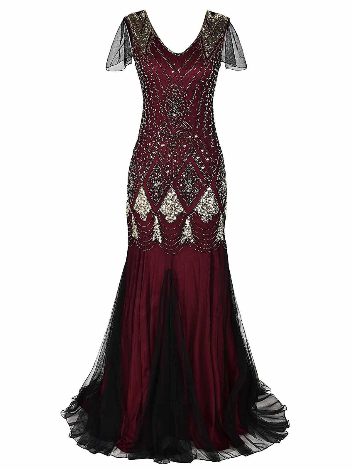 Women 1920s Sequin Party Dress
